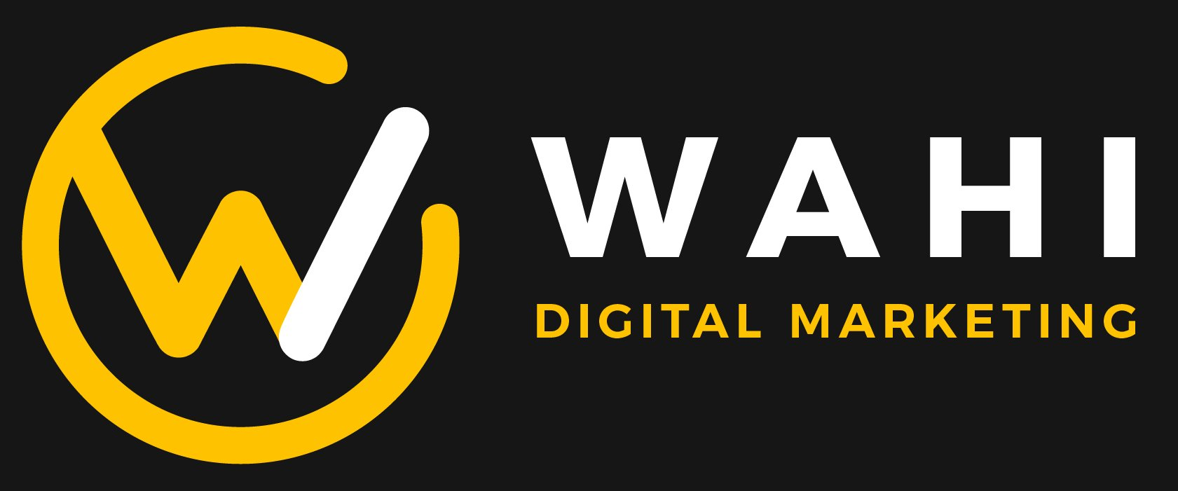 wahi digital marketing logo on black background
