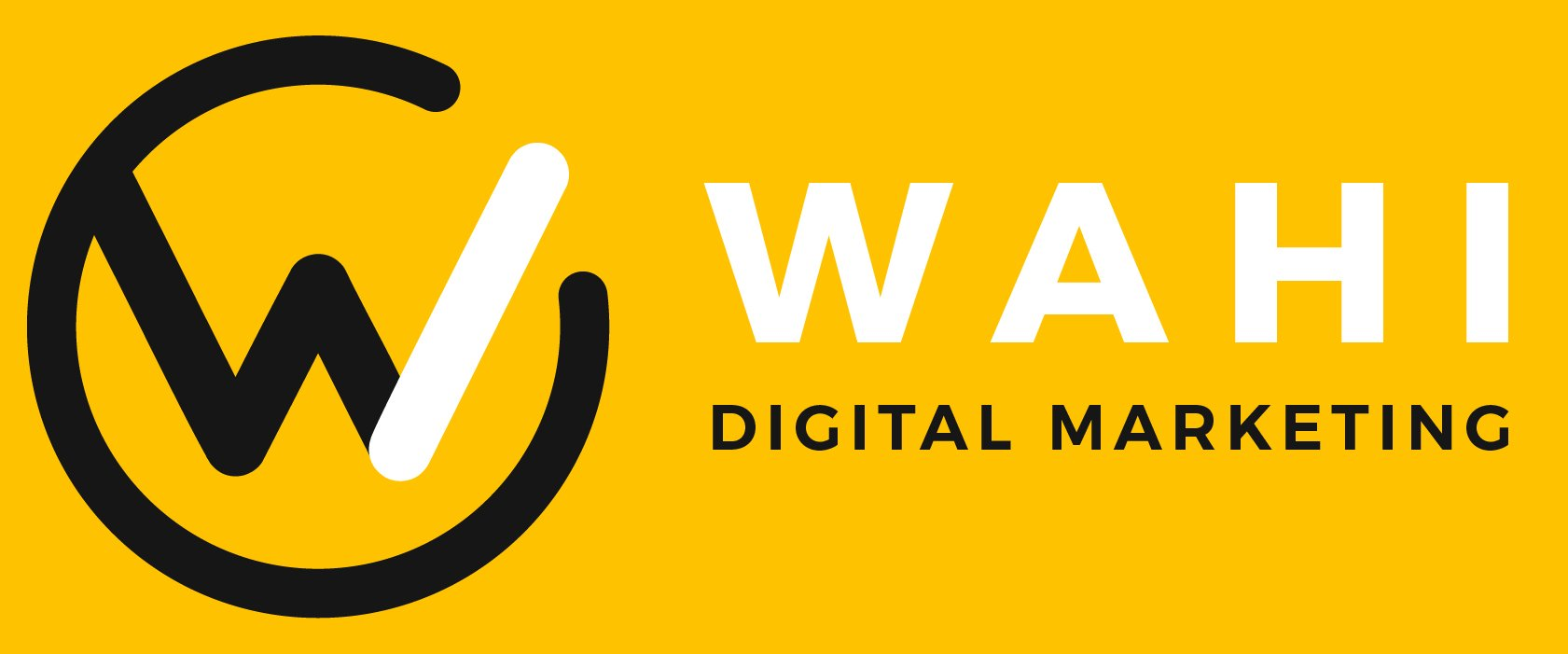 wahi digital marketing logo with yellow background